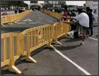 Portable Plastic Barricade