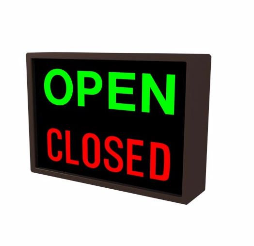 Open/Closed LED Sign - Red/Green