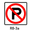 R8-3a, No Parking Symbol SIgn