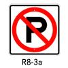 R8-3a, No Parking Symbol SIgn