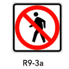 R9-3a, No Pedestrian Crossing Symbols