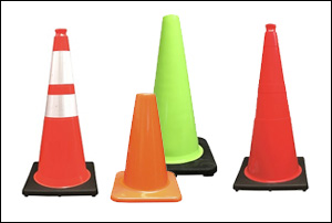 Used Traffic Cones vs New