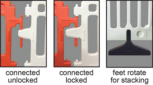 Crowdcade Barricade Locking Mechanism